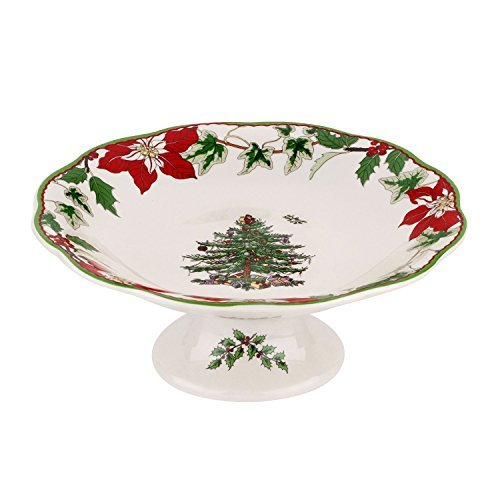 Spode Christmas Tree Annual Footed Candy Dish 7 by Spode -