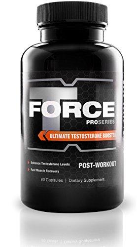 ProSeries T-Force Testosteron Booster Zum Schnellen Muskelaufbau – Ultimativer Weight Gainer Mit Stickstoffmonoxid – Für Fitness, Bodybuilding, Krafttraining – Monatsvorrat 60 Kapseln – Post-Workout