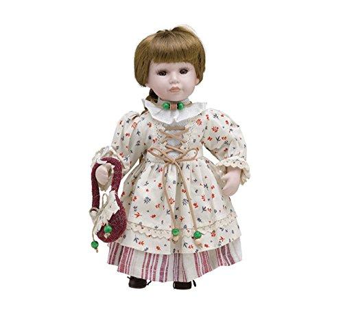 Muñeca de Porcelana de 30 cms con soporte. ANNA - BAM014