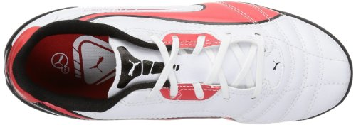 Puma Universal TT Jr 102703, Scarpe da calcio unisex bambino Bianco (Weiß (white-high risk red-black 05))