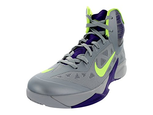nike zoom hyperfuse 2013 Herren hi-top-sneakers Sneaker 615896 basketball Wolf Grey/Volt/Court Purple 3bLOp6