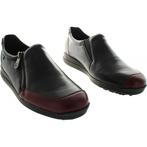 Rieker Womens 44294-35 Leather Shoes Burgund