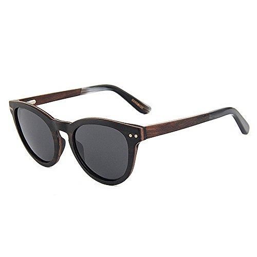 Sonnenbrillen Mode Herren Sonnenbrillen Holz Sonnenbrillen Herren Polarisierte Sonnenbrillen Handmade Gentleman Sonnenbrillen UV Schutz Fahren Sonnenbrillen Strand Sonnenbrillen ( Farbe : Schwarz )