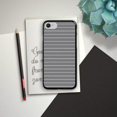 Apple iPhone X Silikon Hülle Case Schutzhülle Illusion Schwarz-Weiß Muster Hard Case schwarz