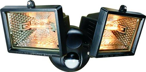 Smartwares 10.031.59 Doble foco halógeno con sensor exterior 2x120W incluido 2250ml negro...