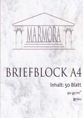 Briefblock A4 Marmora 50 Blatt 80 g/qm; grau