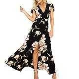 wave166 Vestido,Maxi Vestido de mujer Cóctel de las mujeres de Boho del partido de noche largo del vestido del verano de la playa vestido V-Cuello de tirantes