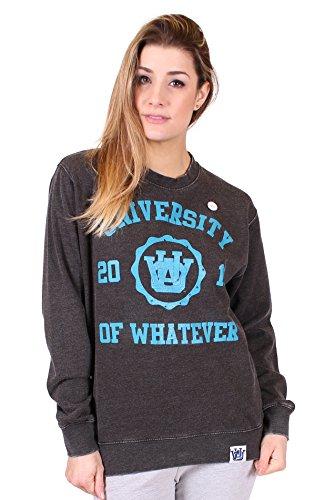 University of Whatever - Crew Neck Sweat-Shirt - Femme Noir