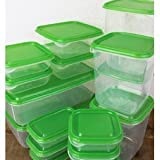 IKEA PRUTA Plastic Container / Food Storage Containers 17 Piece Set