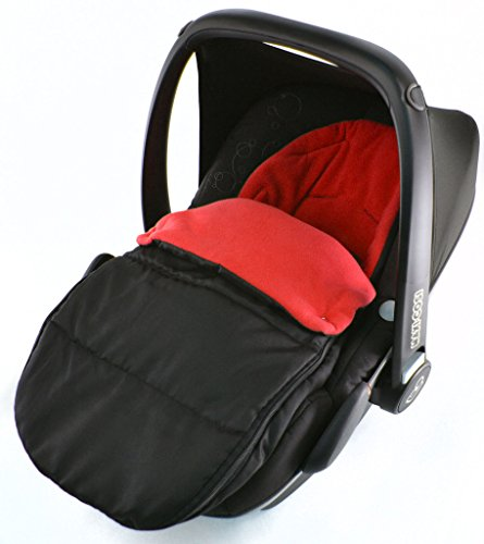 Saco de dormir para asiento de coche compatible con Kiddy Evolution Pro New born Car Seat Fire Red