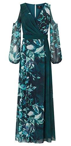 Aliana Printed Cold Shoulder Dress