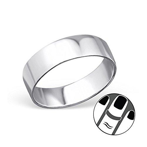 Stering Silver Plain Midi Ring