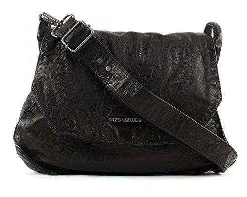 FREDsBRUDER Pipe Umhängetasche Leder 28 cm Black