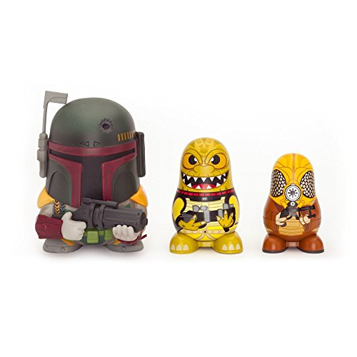 Star Wars Chubby Boba Fett/ Bossk/ Zuckuss Cazador De Recompensas Coleccionable Rusa Figuras Juego
