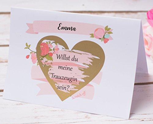 Happy Wedding Art Rubbellos Karte Willst du Meine Trauzeugin Sein Rosa Geschenk Rubbellos Karten Freundin Hochzeit Einladung Idee #05