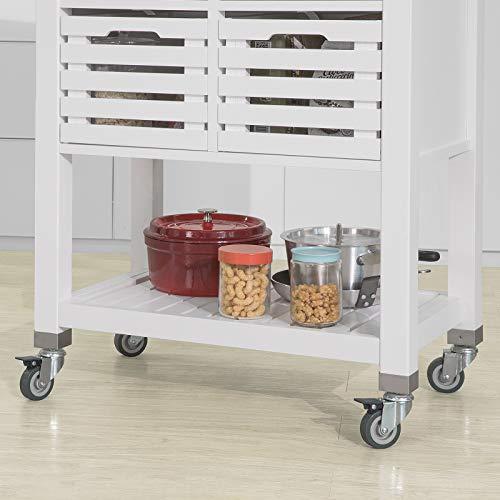 SoBuy Carrello Cucina Acciaio Mobile Cucina salvaspazio con ...