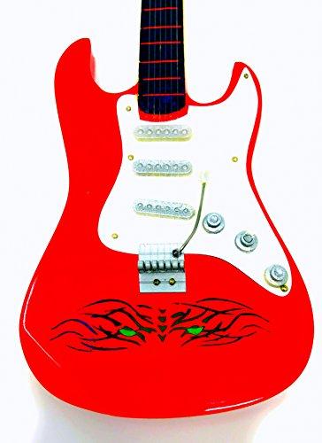 Guitarra en miniatura decorativa Guitarra Guitar Fender 24cm Rojo Tiger Eye # 141