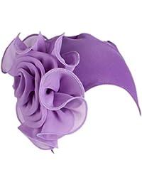 Mujeres Retro Flores DE Grandes Sombrero Turbante Cancer Quimioterapia Chemo Oncológico Noche Pèrdida de Pelo Cabello