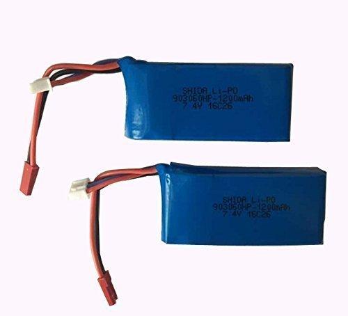 YUNIQUE ESPAGNE® 2 PIEZAS Extra 7.4V 1200mAh Lipo batería para Yizhan Tarantula X6 / JJRC H16 RC / MJX X101 Quadcopter