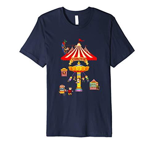 Circus Shirt Karneval Merry Go Round Zelt Kinder