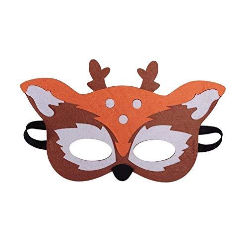 Keinen Dress Up Kostüm - HUOYAN 1 Stück Wald Freunde Kinder Tier Maske for Geburtstag Gefälligkeiten Dress-up Kostüm Kinder Augenmasken (Color : A01)