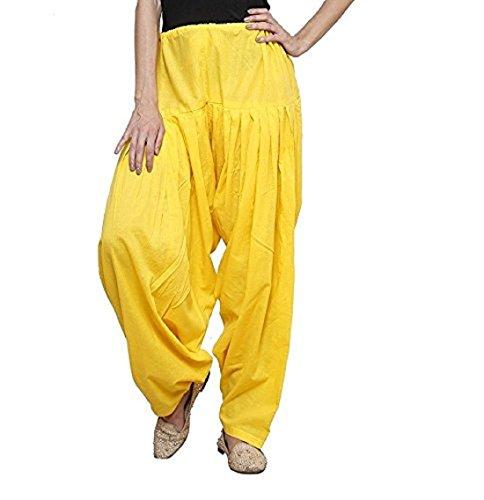 Black macy Women's plain Cotton Comfort Punjabi Patiala Salwar Bottom Pants Semi-Patiala...