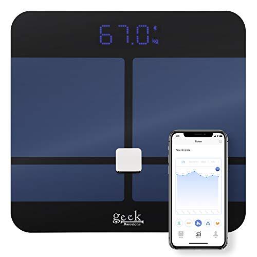 Báscula Inteligente Digital Bluetooth De Alta Calidad Mide Grasa Corp