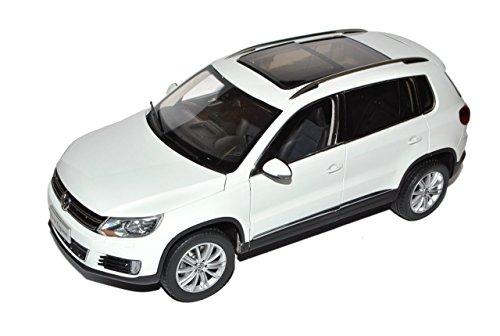 Paudi Volkwagen Tiguan Weiss SUV Modell ab 2007 Ab Facelift 2011 1/18 Modell Auto