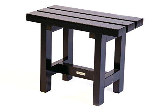 Hocker 'City' 60 cm schwarz, Holz, Gartenbank 60 cm