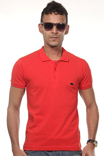FIOCEO Poloshirt slim fit Rot