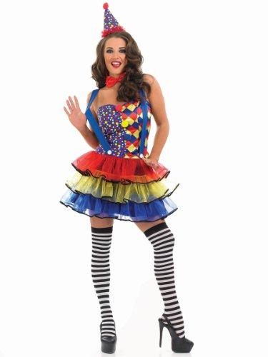 Fun Shack Damen Costume Kostüm, Clown Tutu Dress, ()