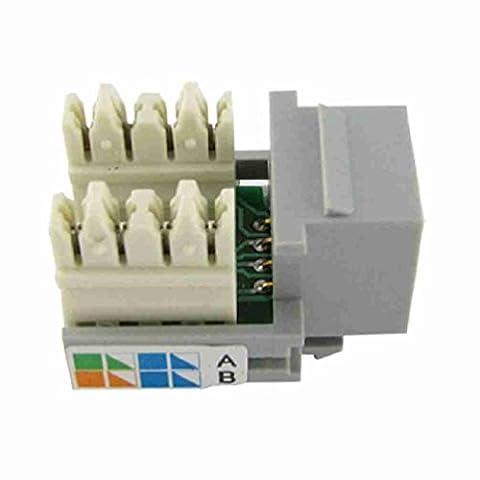 Move&Moving(TM) 8 Pin CAT5e RJ45 Computer Socket Keystone Module Grey