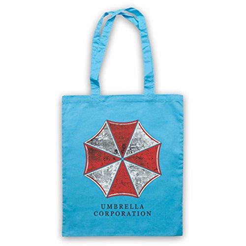 Inspiriert durch Resident Evil Umbrella Corp Logo Inoffiziell Umhangetaschen Hellblau