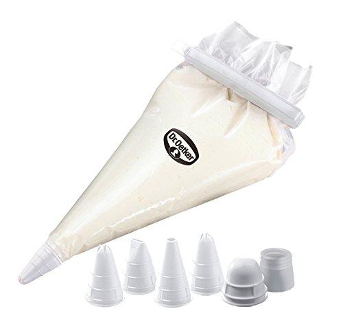 ritzbeutel Nachfüllpack, Spritztüten zum Verzieren, Backzubehör zum Dekorieren (Farbe: transparent/weiß), Menge: 1 Stück (Dr. Suess, Geburtstag Dekorationen)
