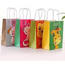 Toyvian Animal Bolsas de Regalo de Papel con Asas - Bolsas de Caramelo, tamaño pequeño