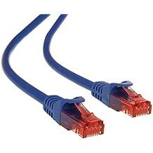 Maclean MCTV-300,301,302,303 - Cable patchcord Ethernet cable de conexión, 2x RJ45 UTP Cat6, 1.000 Mbit/s disponible en diferentes longitudes y colores (3m, N)