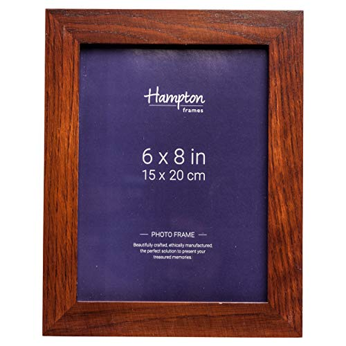 Hampton Frames RUS68DW Russell Bilderrahmen, 15 x 20 cm, massives Holz, Dunkles Walnussholz, 15 x 20 cm (Dunkle Holz-bilderrahmen)