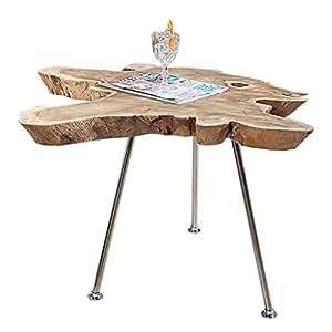 exklusiver couchtisch wild 90 cm baumscheibe teakholz. Black Bedroom Furniture Sets. Home Design Ideas