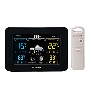 AcuRite 77011EM Color Weather Station with Temperature and Humidity Monitor, Weather Forecaster