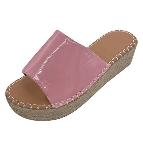 Sandalen Damen Sommer Mit Absatz Hohe Schuhe Damen Espadrilles Plateau Schuhe Damen Hoch 41 EU Rosa Schuhe Rosa Plateau Elegante Kinder Schuhe Für Jungs