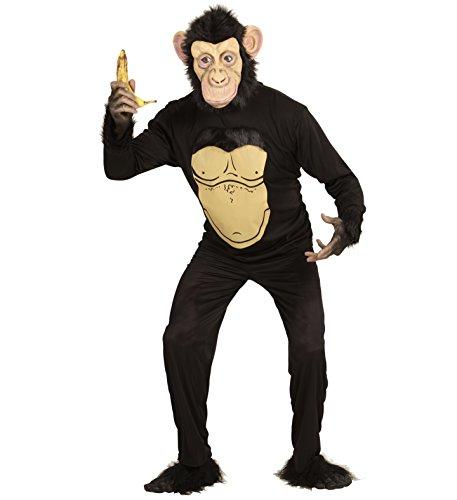 himpanse Zirkus Dschungel Affenmaske (XL) (Zirkus Affe Kostüm)