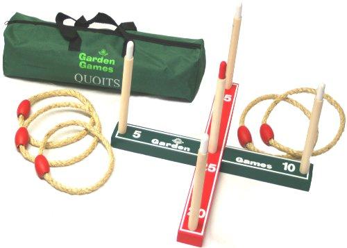 Garden Quoits Set, Premium Rope Quoits, Ring Toss, Hoopla in Carry Bag by Garden Games