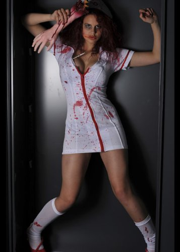 n Halloween Zombie Krankenschwester Kostüm Large (UK 16-18) ()