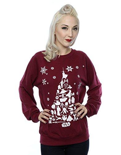 Star Wars Damen Christmas Tree Sweatshirt Medium (Frauen Star Wars)