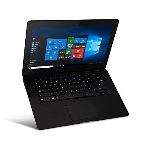 iRULU SpiritBook S1 Laptop, 14,1 inch 1600 MHz HD Display, 64-Bit Intel Quad Core Processor, 2 g DDR3, 32 GB Rom,Webcam, WiFi, Bluetooth 4,0, HDMI, Windows 10,1(Schwarz)