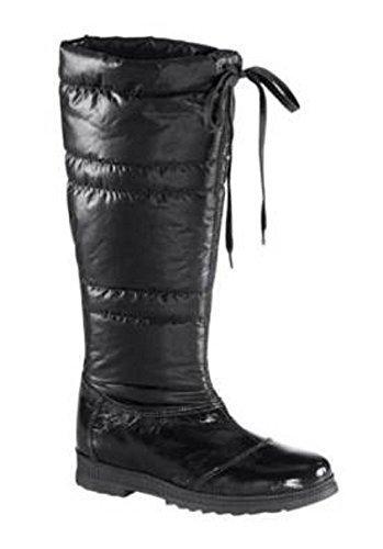 Stivali di Pelle verniciata/Tessuto in nero Marrone