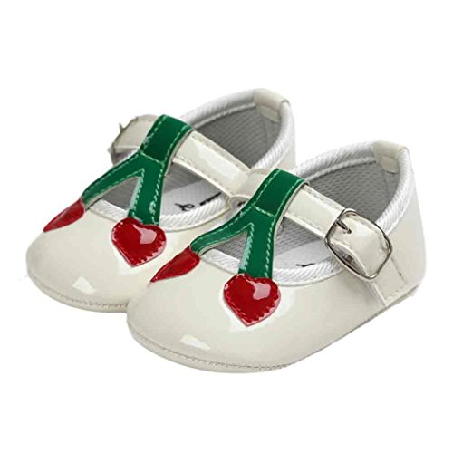 Baby Criança De Princess Ocasional Sapatilhas Brancas Únicos Cherry Igemy Sapatos Macio gUaqOZgw