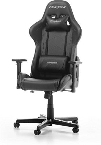 DXRacer Formula Oh/fh08/N Gaming silla, piel sintética, color negro, 67x 67x 128cm