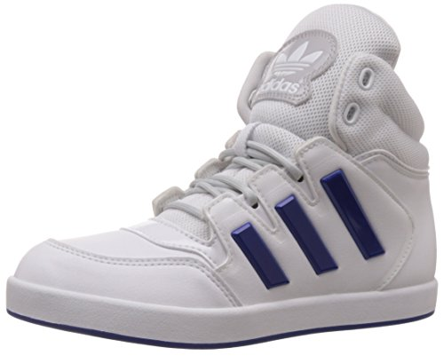 adidas Originals Boy's Dropstep K White and Collegiate Royal Sneakers - 2 UK