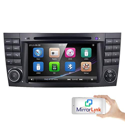 hizpo 2 Din Autoradio mit Bluetooth Autoradio für Mercedes-Benz E-Klasse W211 CLS-Klasse W219 G-Klasse W463 Lenkradfernbedienung Canbus RDS AM FM -